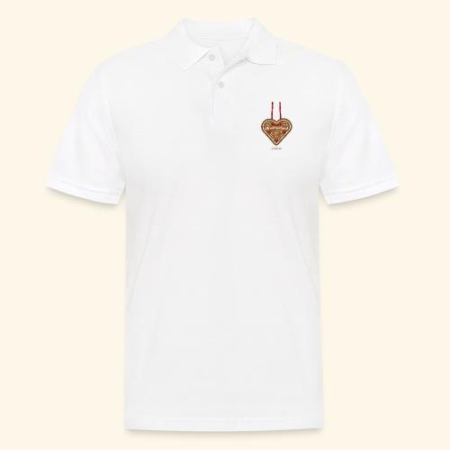 Weihnachts T Shirt Christnixkind Lebkuchenherz - Männer Poloshirt