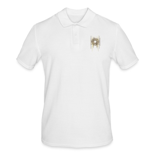 Abstract Geometry Gold Metal Art Deco Vintage - Men's Polo Shirt