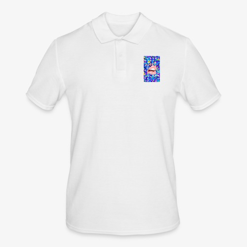 80s background pattern with mouth 2 - Men's Polo Shirt