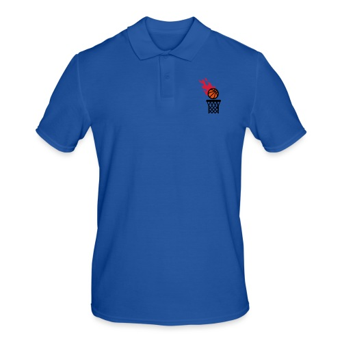 fire basketball - Men's Polo Shirt