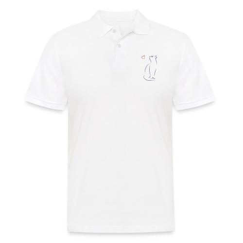0001_katze_herz_blau-rot - Männer Poloshirt