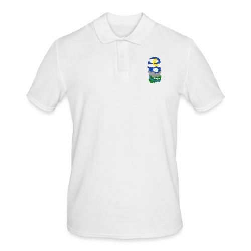 smiling moon and funny sheep - Men's Polo Shirt