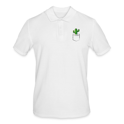Kaktus in der Tasche – lustige Geschenkidee - Männer Poloshirt
