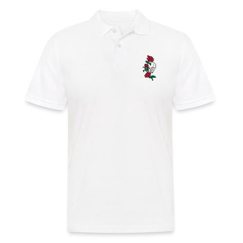 teschio e rose es123_2 - Polo da uomo