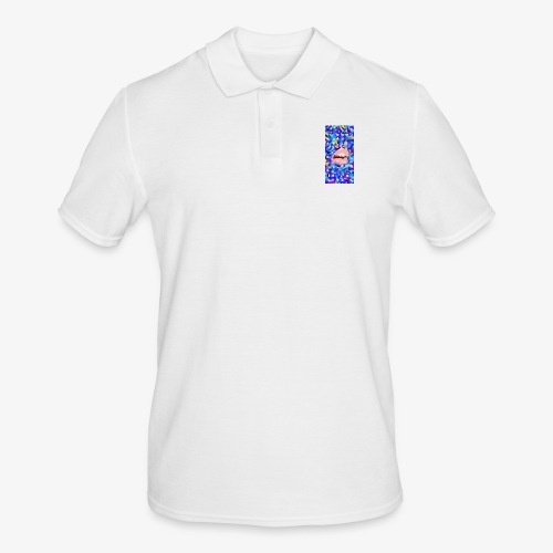 80s background pattern with mouth - Men's Polo Shirt