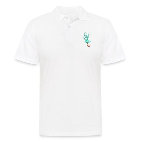 Zeichnerbunny mit Pinsel - Männer Poloshirt
