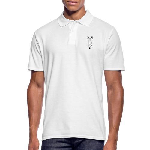 Hase Kopf Illustrartion Feldhase Löffel - Männer Poloshirt