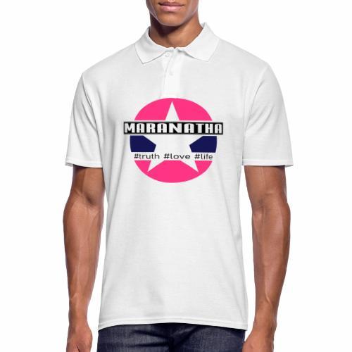 maranatha rosa-grün - Männer Poloshirt