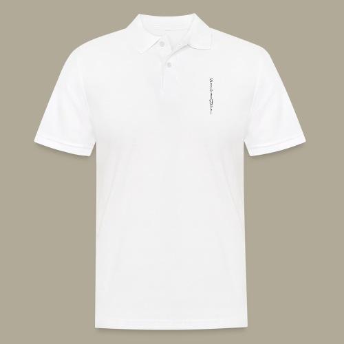 Logo vertikal Sterne - Männer Poloshirt