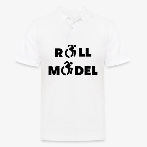 Elke rolstoel gebruiker is een roll model - Mannen poloshirt