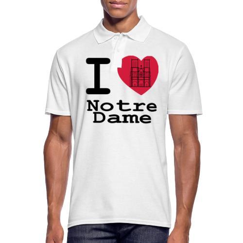 I love Notre Dame - Mannen poloshirt