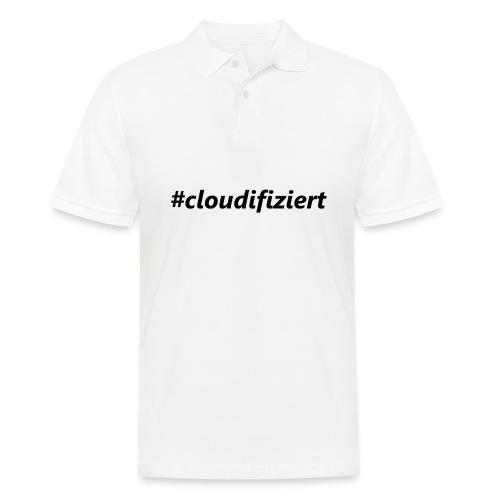 #cloudifiziert black - Männer Poloshirt