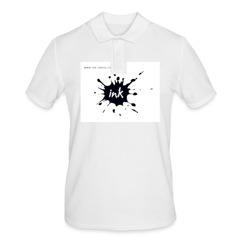 Ink Logo and website - Men's Polo Shirt