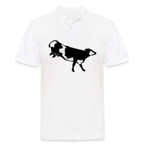 Landende koe vector - Mannen poloshirt