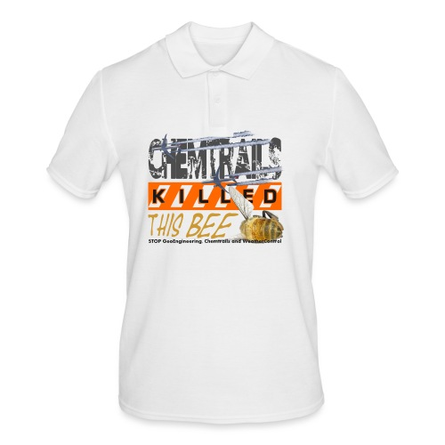 Chemtrails killed this bee - Mannen poloshirt