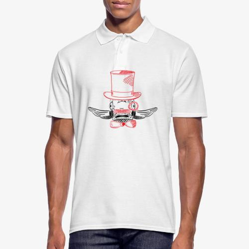 Elegant Hipster Fish - Mustache - Männer Poloshirt