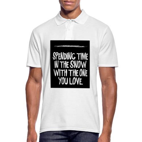 snow kokain | spending time in the snow - Männer Poloshirt