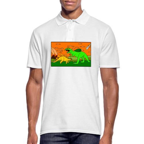 Schneckosaurier von dodocomics - Männer Poloshirt