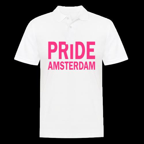 Pride Amsterdam in roze - Mannen poloshirt
