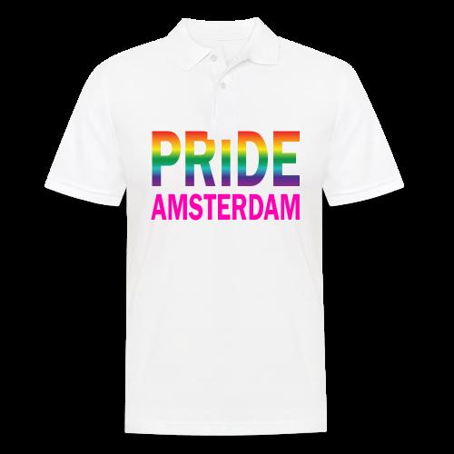 Pride Amsterdam in regenboog kleur en roze - Mannen poloshirt