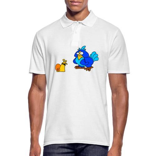 Schnecke und Vogel von dodocomics - Männer Poloshirt