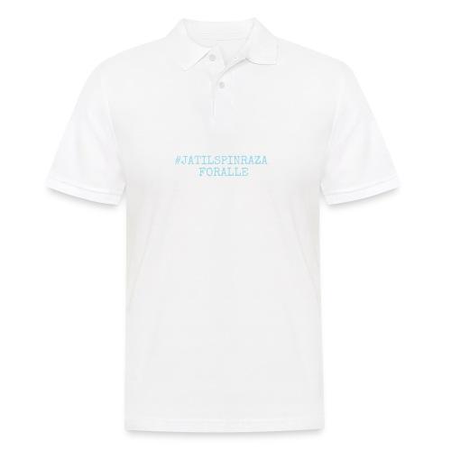 #jatilspinrazaforalle - lysblå - Poloskjorte for menn