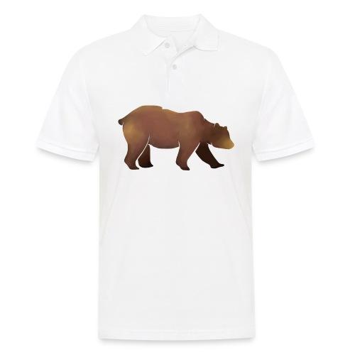 Silhouette eines Bären in Brauntönen - Männer Poloshirt