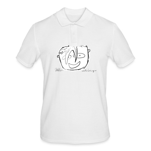 The Face Zoomed | Peter Eric Lang - Men's Polo Shirt
