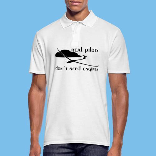echter Segelflieger Pilot gleiten Geschenk Motor - Männer Poloshirt