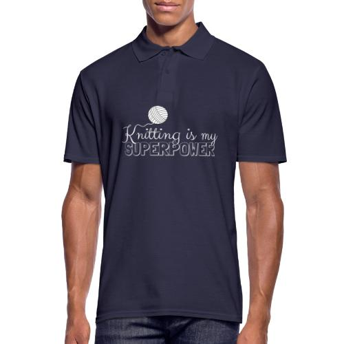 Knitting Is My Superpower - Men's Polo Shirt
