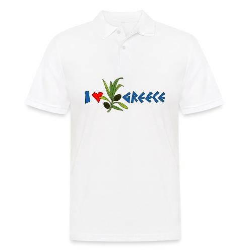 i love greece met olijf - Mannen poloshirt