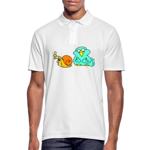 Schnecke und Vogel Nr 3 von dodocomics - Männer Poloshirt