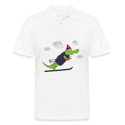 Krokodil Skifahren Kleinkind Baby süsser Alligator - Männer Poloshirt