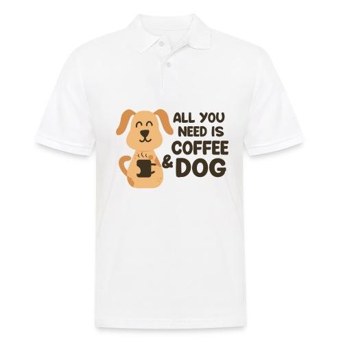 Hund Kaffee alles was ich brauche Geschenkidee - Männer Poloshirt