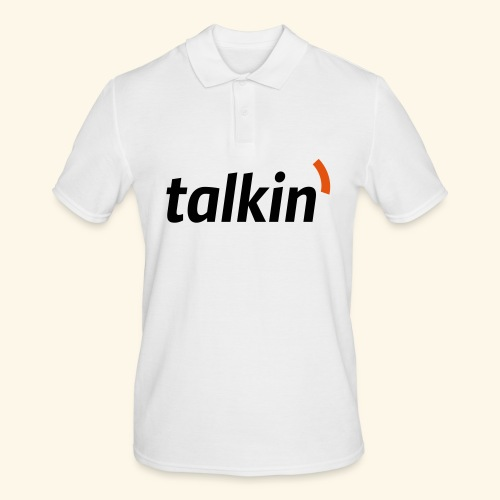 talkin' white on gray - Männer Poloshirt