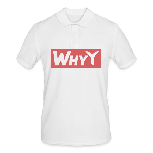 Block Red | WhyY - Men's Polo Shirt
