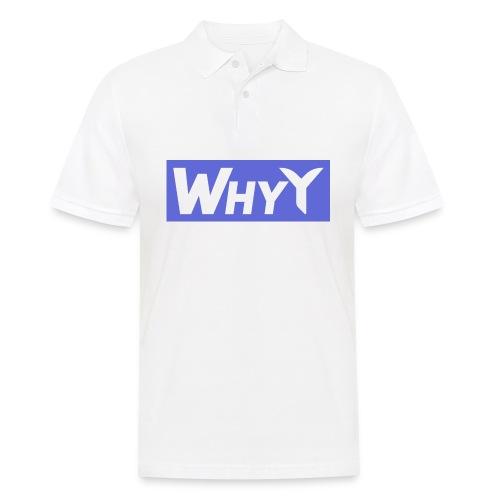 Block Blue | WhyY - Men's Polo Shirt