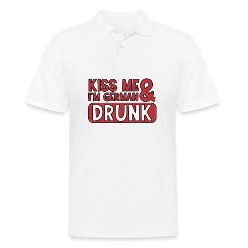 Kiss me I'm German & Drunk - Party Feiern Bier - Männer Poloshirt