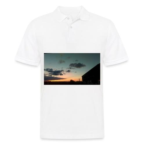 Cloudy Red Sky - Men's Polo Shirt