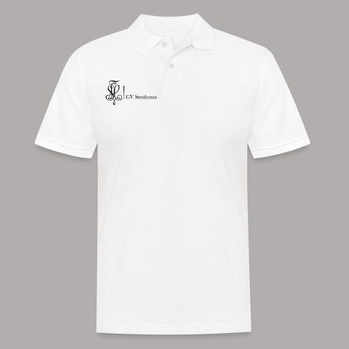 Zirkel mit Name, schwarz (vorne) - Männer Poloshirt