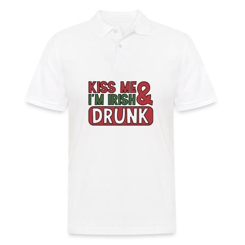 Kiss Me I'm Irish & Drunk - Party Irisch Bier - Männer Poloshirt