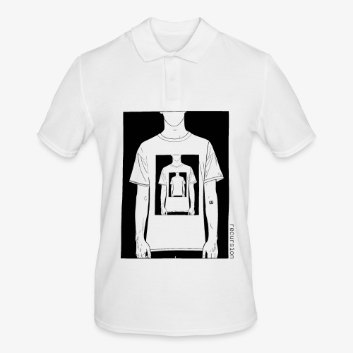 Recursion | Loop | Repeat | Optical illusion - Men's Polo Shirt