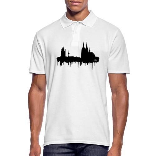 Skyline Köln - Schwarz - Männer Poloshirt