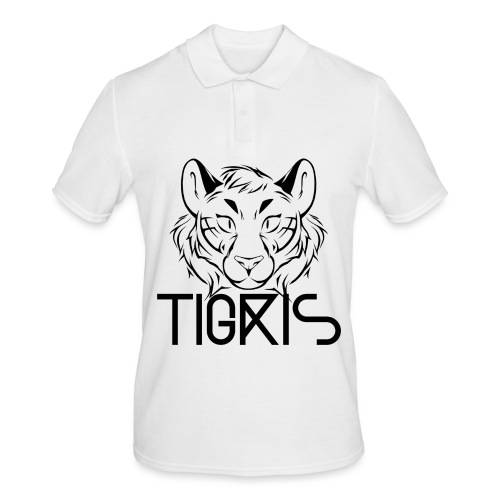 Tigris Logo Picture Text Black - Men's Polo Shirt