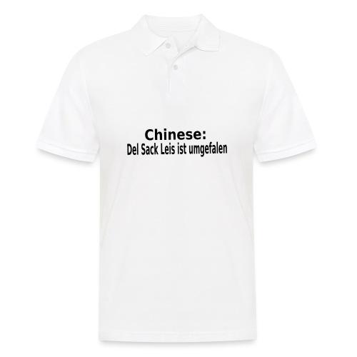Sack Reis umgefallen - Männer Poloshirt