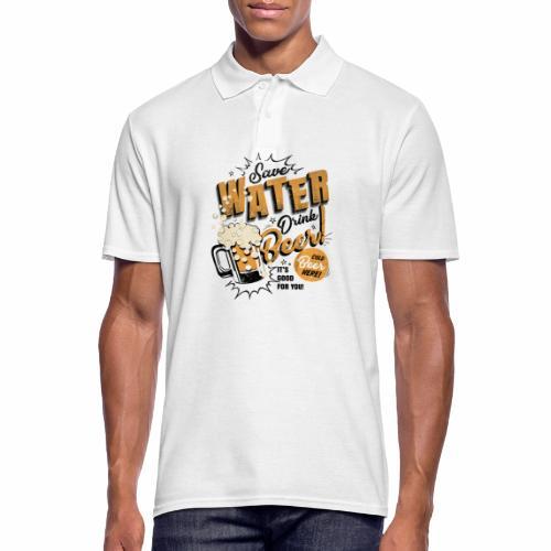Save Water Drink Beer Trinke Wasser statt Bier - Men's Polo Shirt