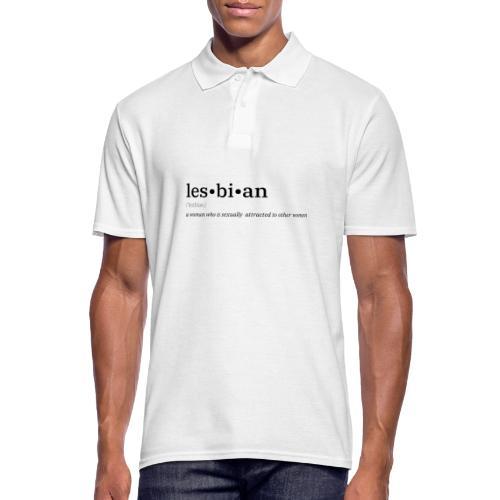 Lesbian Wörterbuch - Männer Poloshirt