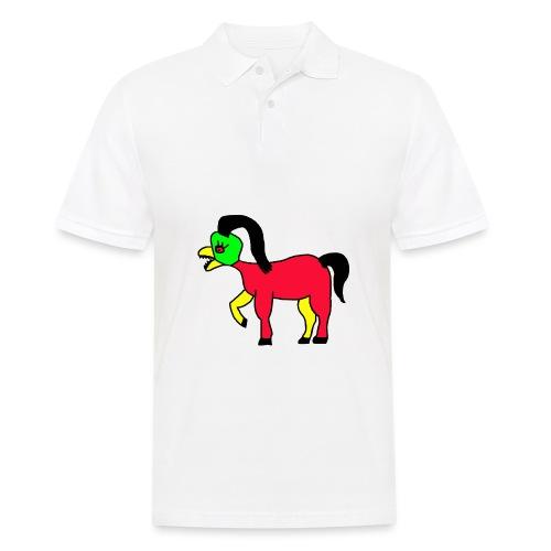 Vogel Pferd Verrückt - Männer Poloshirt