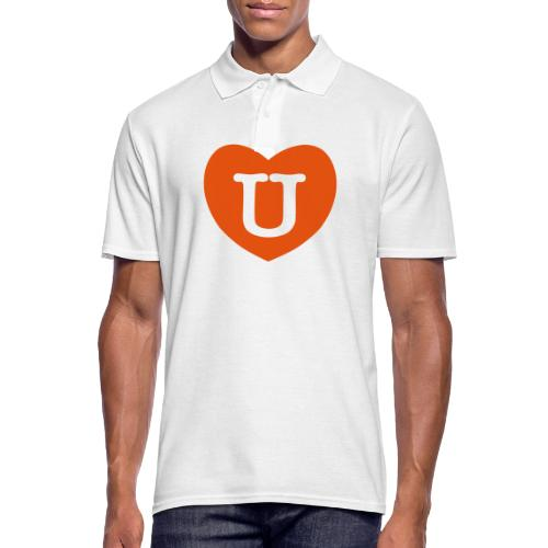 LOVE- U Heart - Men's Polo Shirt