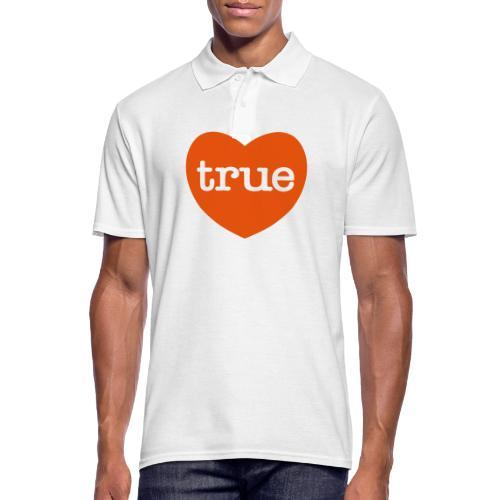 TRUE LOVE Heart - Men's Polo Shirt